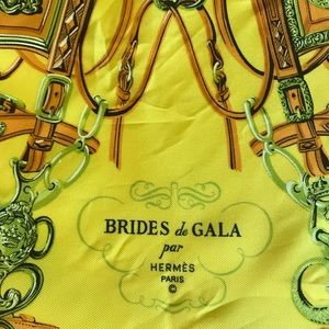 "Hermès ""Brides de Gala"" silk scarf. Authentic."